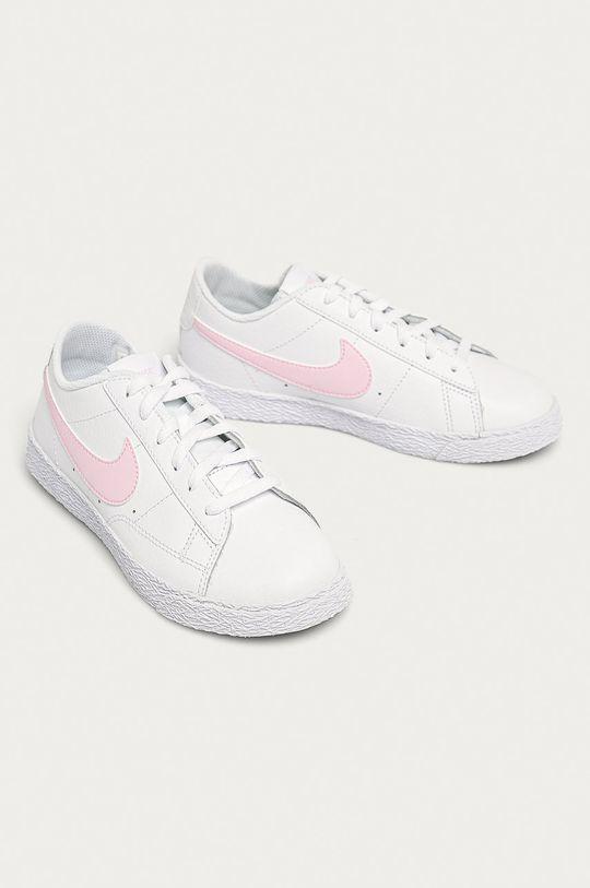 Nike Kids - Detské topánky Blazer Low biela