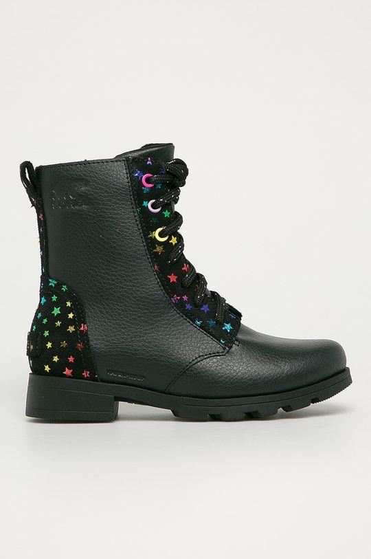černá Sorel - Dětské boty Emelie Dívčí