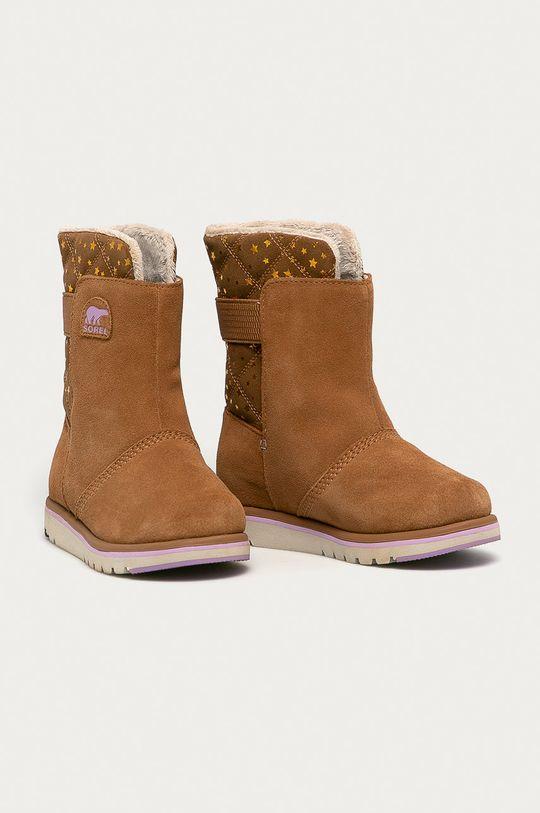 Sorel - Cizme de iarna copii Youth Rylee maro auriu