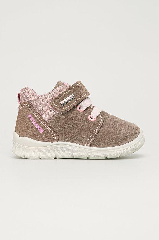 bej Primigi - Pantofi din piele intoarsa pentru copii De fete