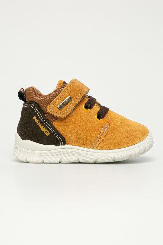 maro auriu Primigi - Pantofi din piele intoarsa pentru copii De fete