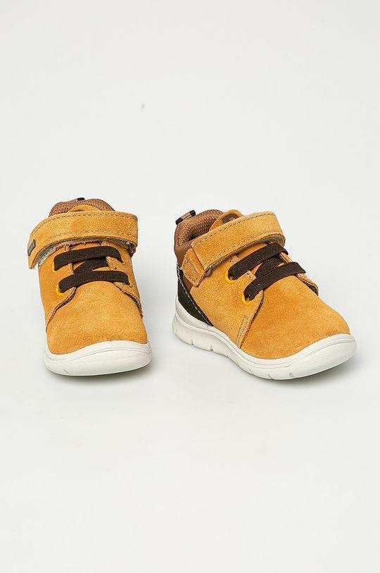 Primigi - Pantofi din piele intoarsa pentru copii maro auriu