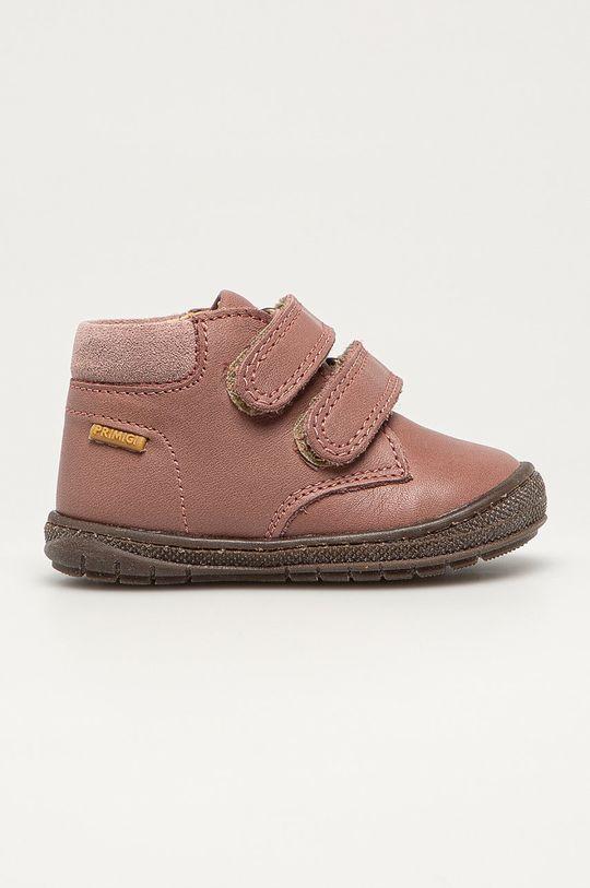розовый Primigi - Детские кожаные кроссовки Для девочек