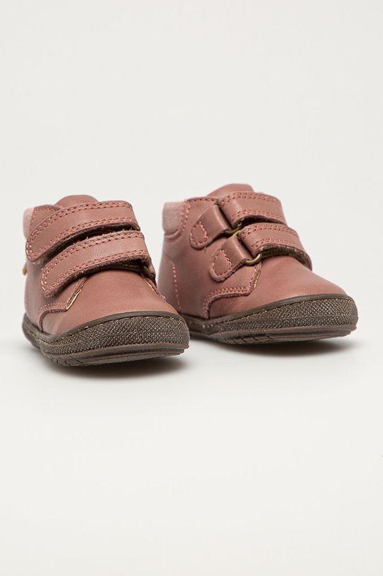 Primigi - Детские кожаные кроссовки розовый