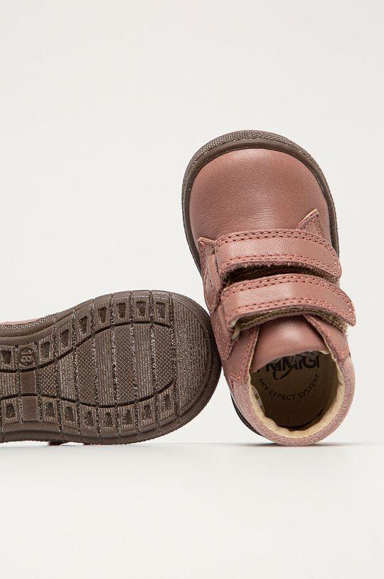 розовый Primigi - Детские кожаные кроссовки