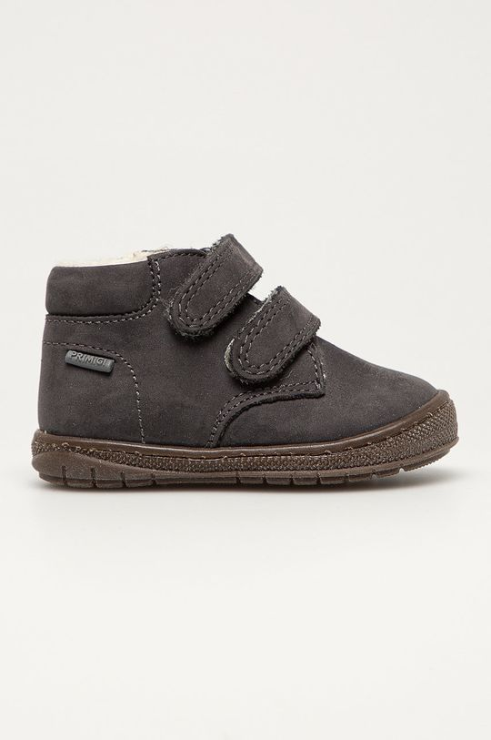 графита Primigi - Детские кожаные кроссовки Для девочек