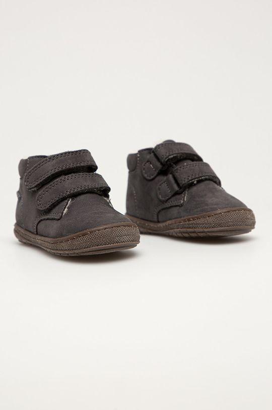 Primigi - Детские кожаные кроссовки графита