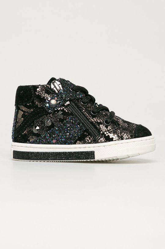 argintiu Primigi - Pantofi din piele intoarsa pentru copii De fete