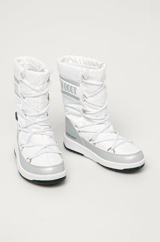 Moon Boot - Dětské sněhule Quilted bílá