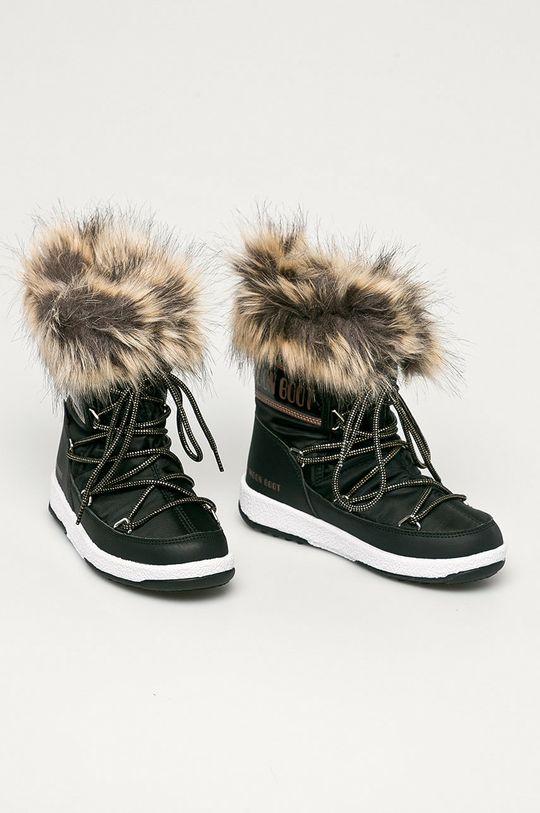 Moon Boot - Cizme de iarna copii Monaco Low Wp negru