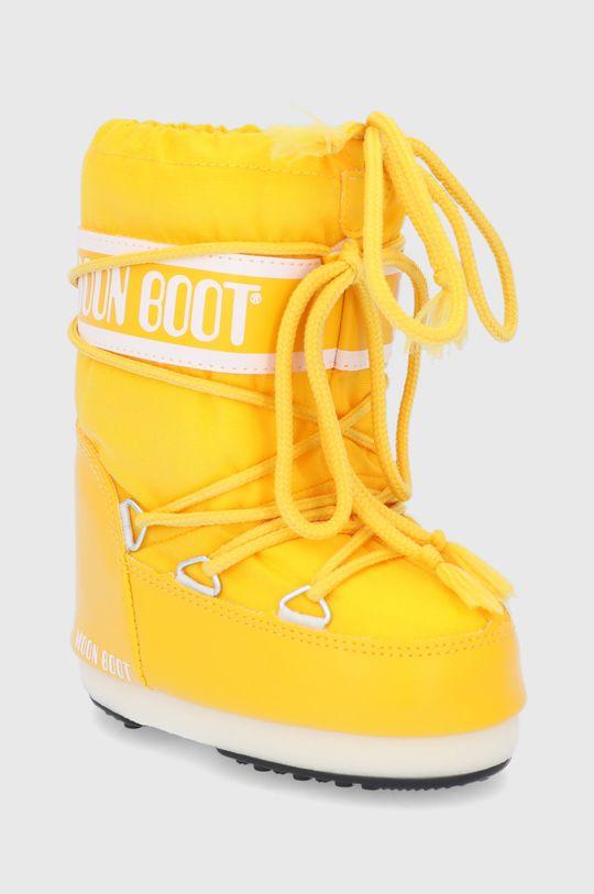 Moon Boot - Śniegowce dziecięce Classic Nylon żółty