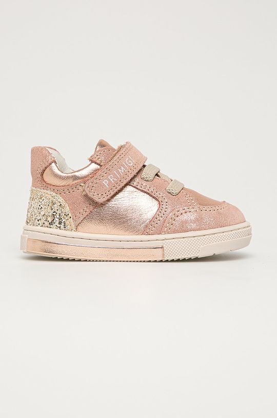 ružová Primigi - Detské kožené topánky Dievčenský