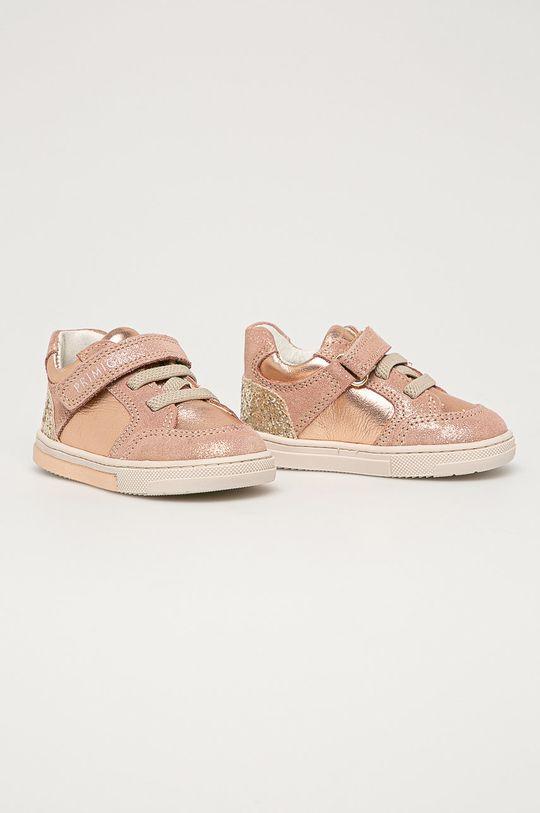Primigi - Detské kožené topánky ružová