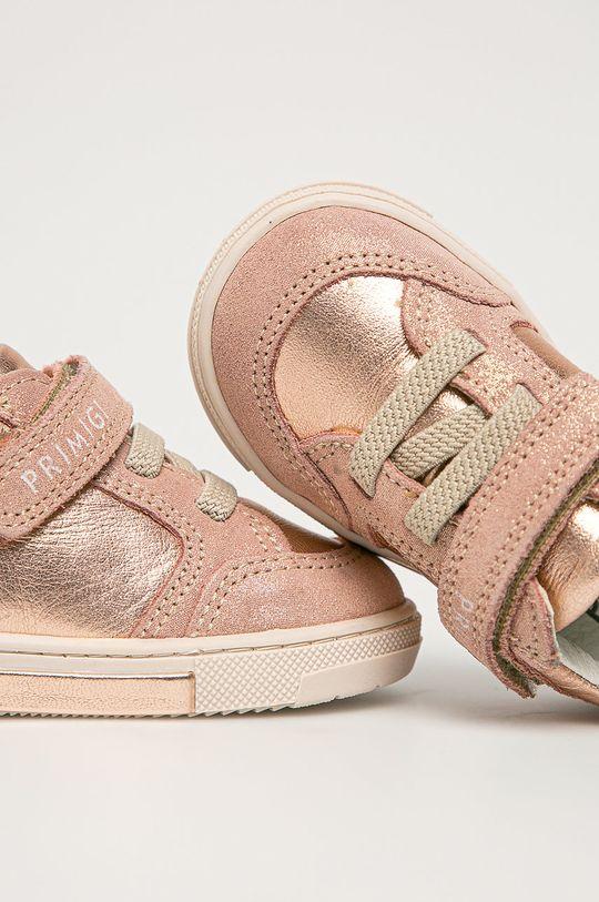 ružová Primigi - Detské kožené topánky
