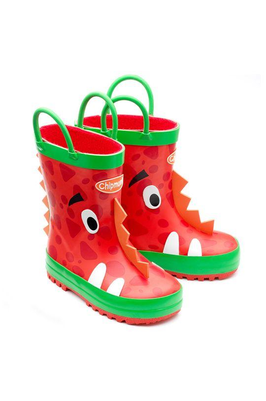 czerwony Chipmunks - Kalosze dziecięce Ziggy Dziewczęcy