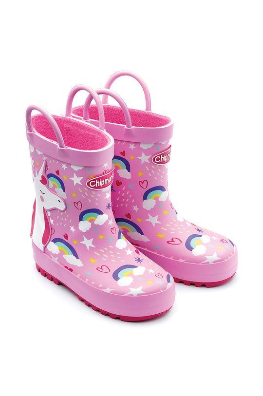 różowy Chipmunks - Kalosze dziecięce Olympia Dziewczęcy