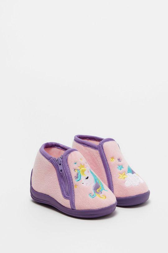 sýto ružová OVS - Detské papuče Dievčenský
