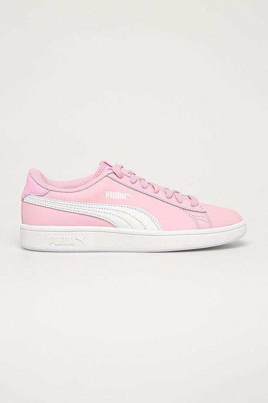 pastelově růžová Puma - Dětské boty Smash v2 L Dívčí