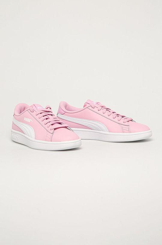 Puma - Dětské boty Smash v2 L pastelově růžová