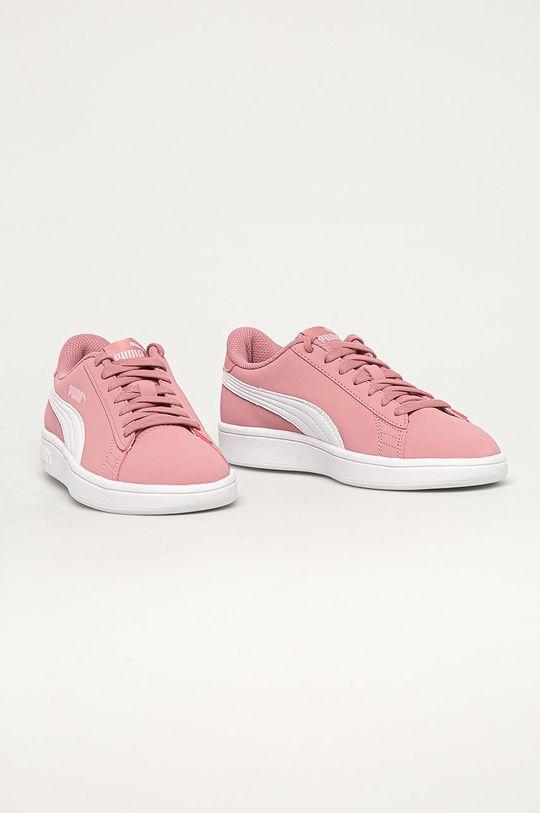 Puma - Detské topánky Smash v2 Buck Jr ružová