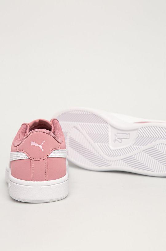 ružová Puma - Detské topánky Smash v2 Buck Jr