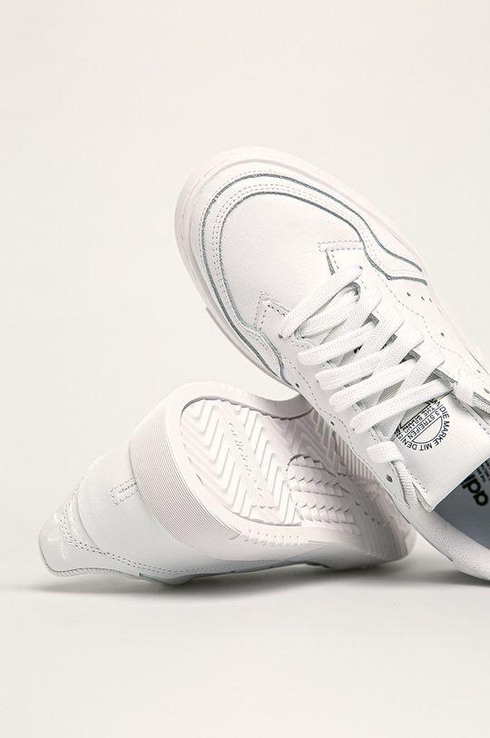 biały adidas Originals - Buty dziecięce Supercourt J