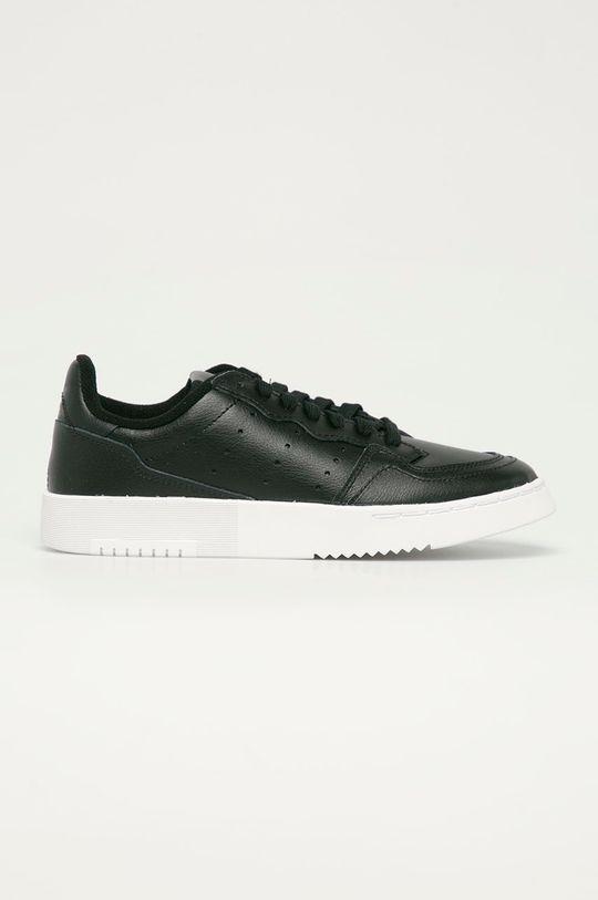 černá adidas Originals - Dětské kožené boty Supercourt J Dětský