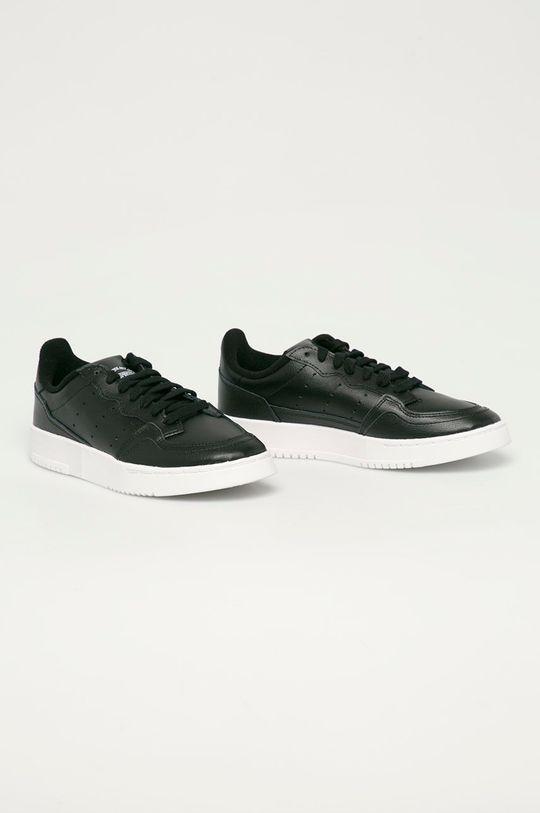 adidas Originals - Dětské kožené boty Supercourt J černá