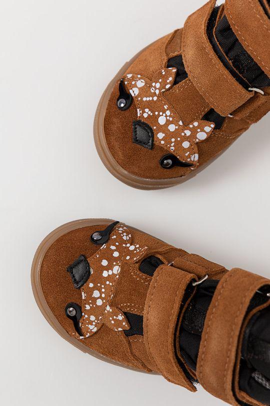 Mrugała - Detské kožené topánky Detský