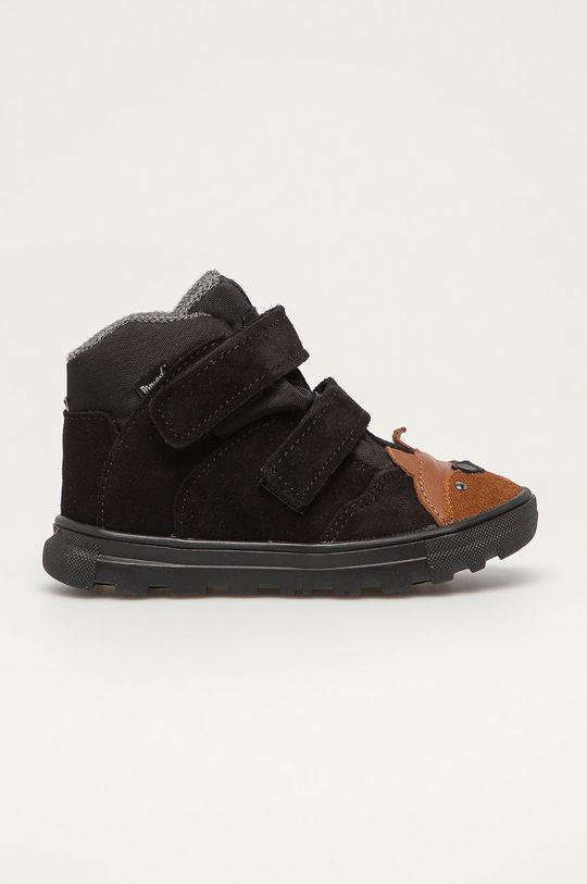 čierna Mrugała - Detské kožené topánky Detský