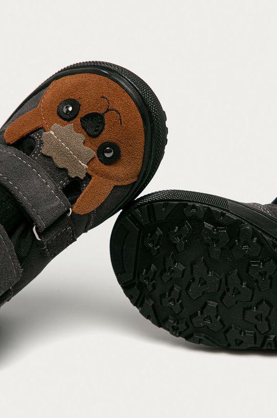 gri Mrugała - Pantofi din piele intoarsa pentru copii