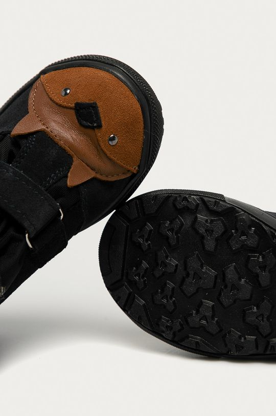 grafitová Mrugała - Detské semišové topánky