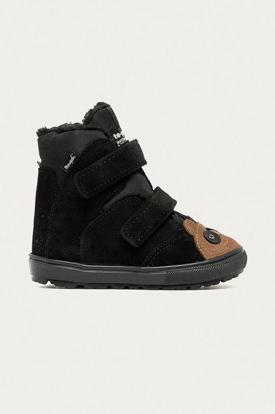 čierna Mrugała - Detské semišové topánky Detský