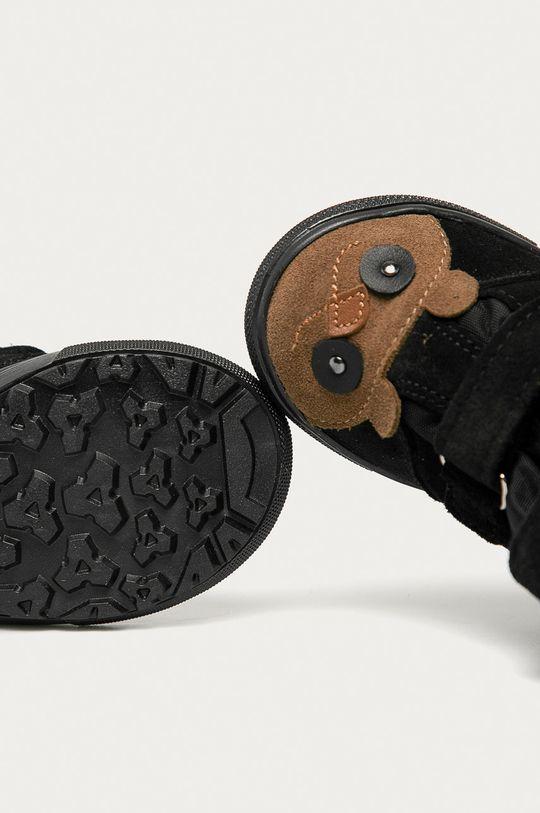 čierna Mrugała - Detské semišové topánky