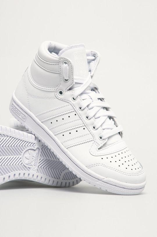 biela adidas Originals - Detské topánky Top Ten