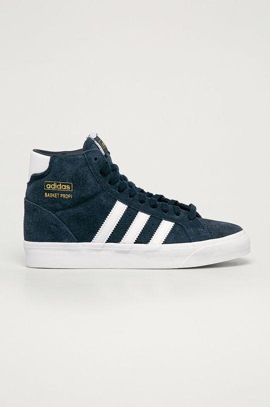 námořnická modř adidas Originals - Dětské semišové boty Basket Profi J Dětský