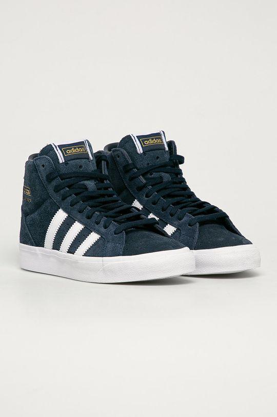 adidas Originals - Dětské semišové boty Basket Profi J námořnická modř