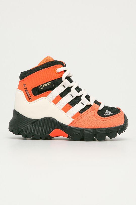 oranžová adidas Performance - Detské topánky Terrex Mid GTX I Detský