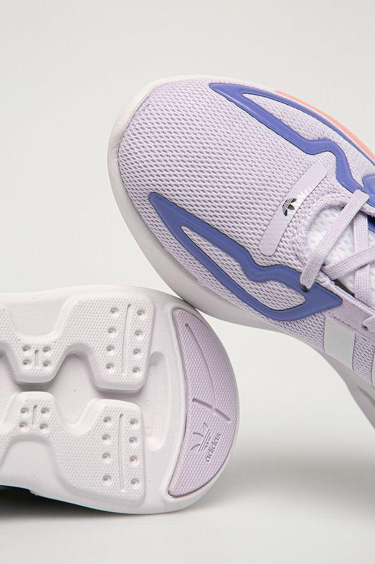 fialová adidas Originals - Dětské boty ZX 2K Flux
