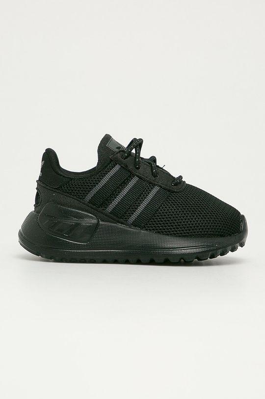 čierna adidas Originals - Detské topánky La Treiner Lite EL I Detský