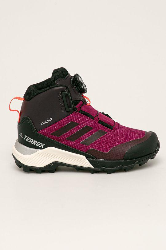 purpurový adidas Performance - Detské topánky Terrex Winter Boa Detský