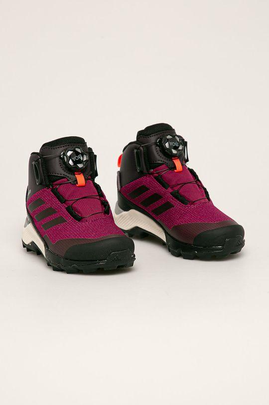 adidas Performance - Detské topánky Terrex Winter Boa purpurový