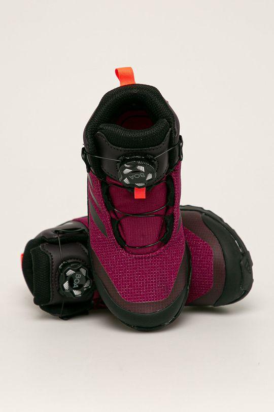 purpurový adidas Performance - Detské topánky Terrex Winter Boa