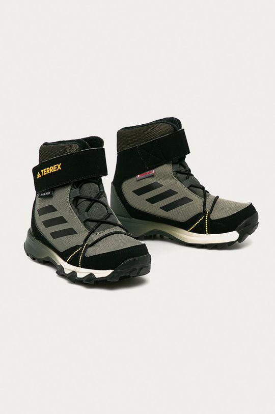 adidas Performance - Detské topánky Terrex Snow CF R.RDY hnedozelená