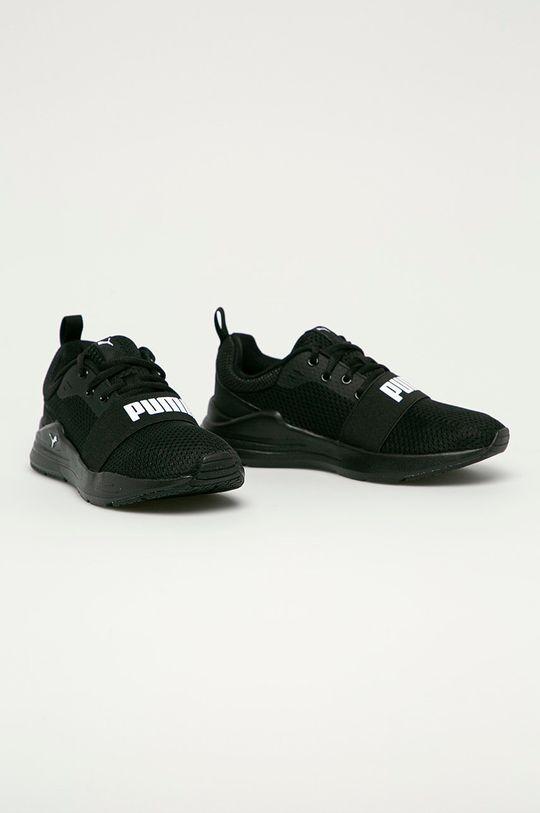 Puma - Detské topánky Wired Run Jr čierna