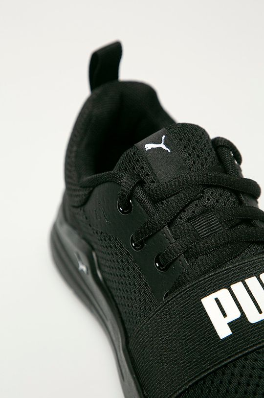 čierna Puma - Detské topánky Wired Run Jr