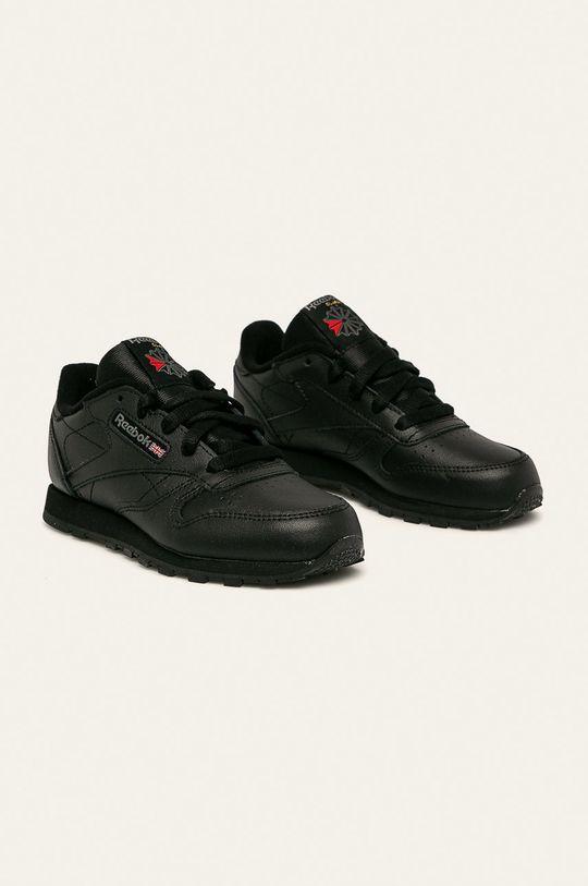 Reebok Classic - Dětské boty Classic Leather černá