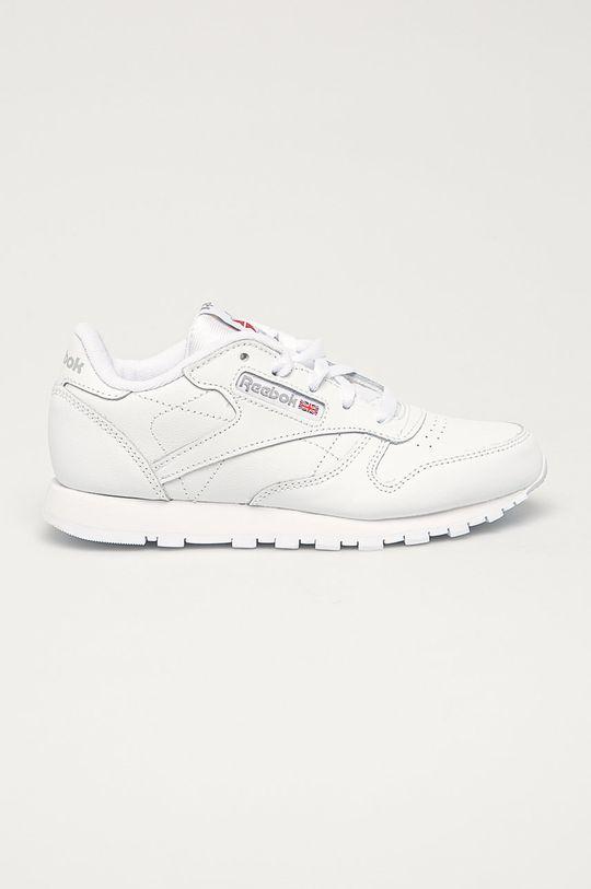 biela Reebok Classic - Detské kožené topánky Classic Detský