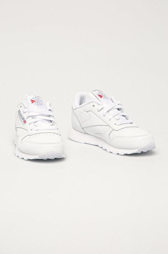 Reebok Classic - Detské kožené topánky Classic biela