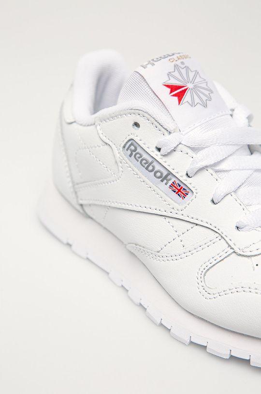 biela Reebok Classic - Detské kožené topánky Classic